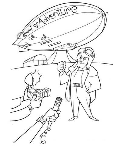 406x480 Spirit Of Adventure Airship Coloring Page Free Printable
