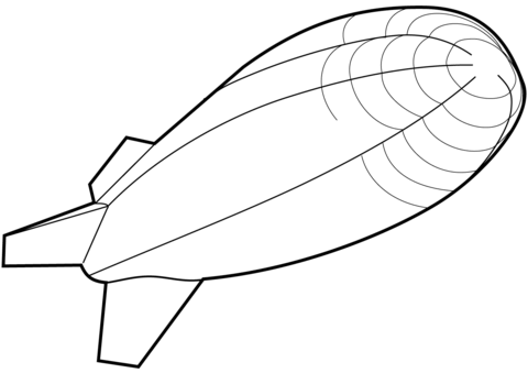 480x339 Airship Coloring Page Free Printable Coloring Pages