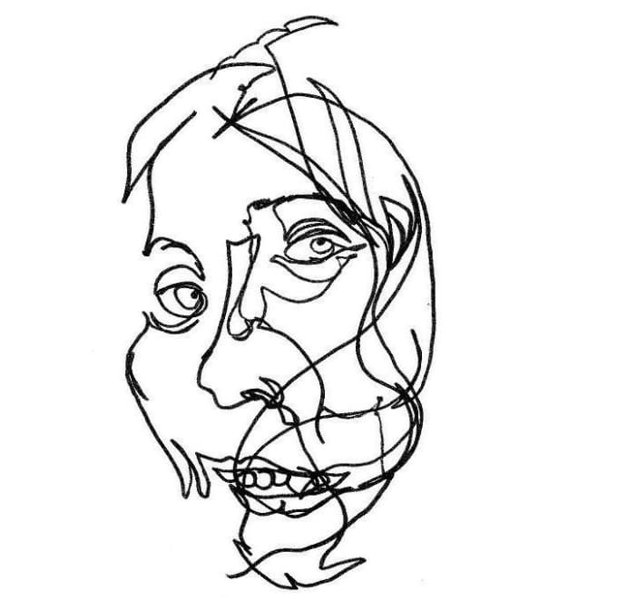 680x672 Draw A Blind Contour Portrait From Any Photo By Dibbyface