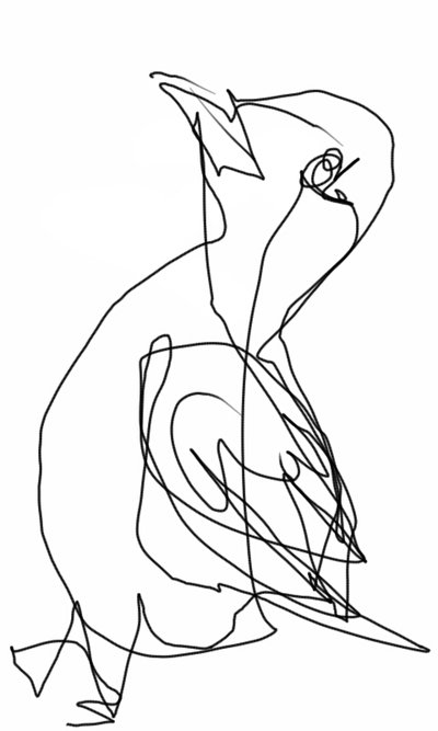 400x667 Blind Contour Drawing 1 By Crystalfrostfa
