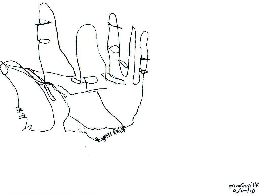 1024x768 Blind Contour Drawing Art 1