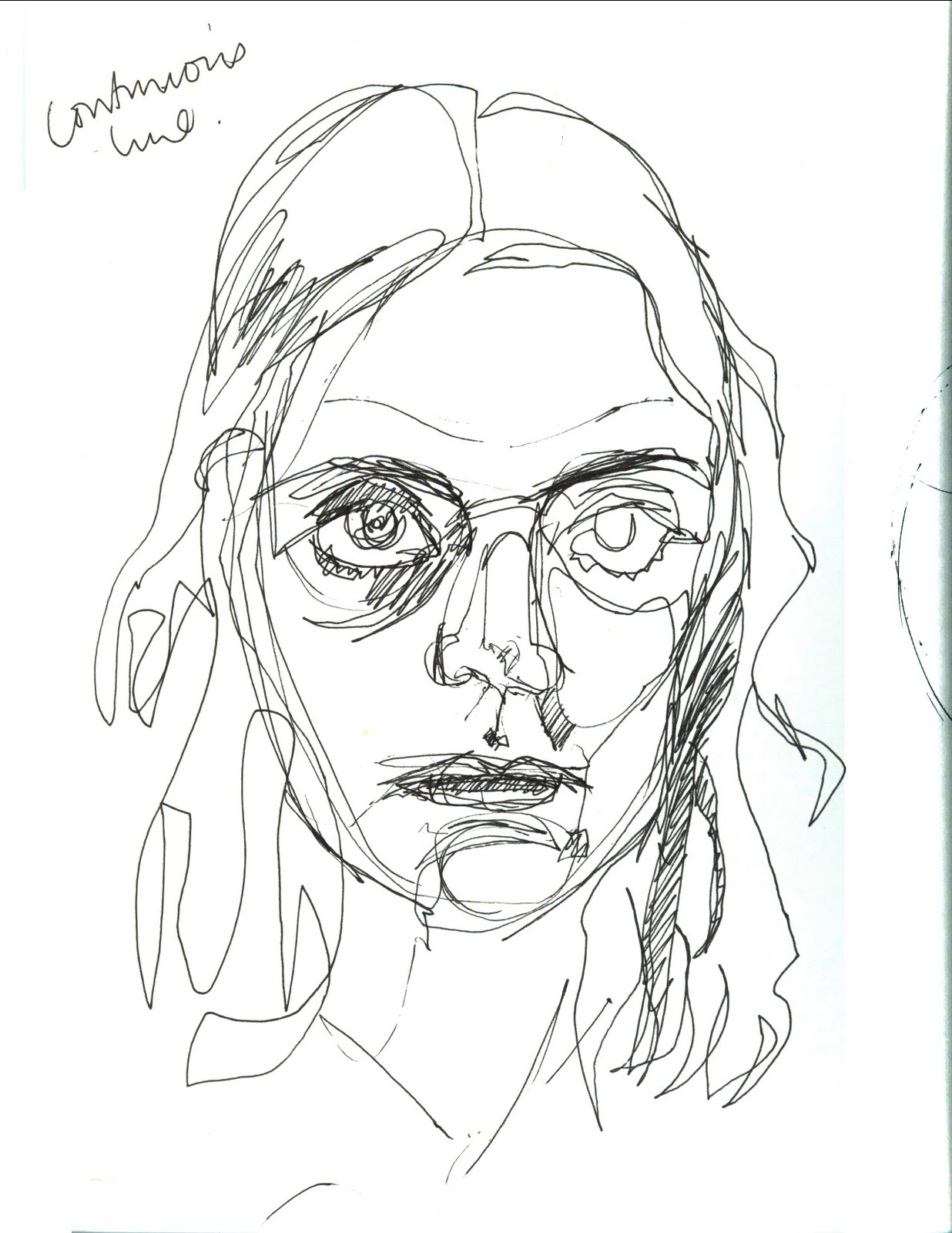 1236x1600 Blind Contour Drawing Famous Artists