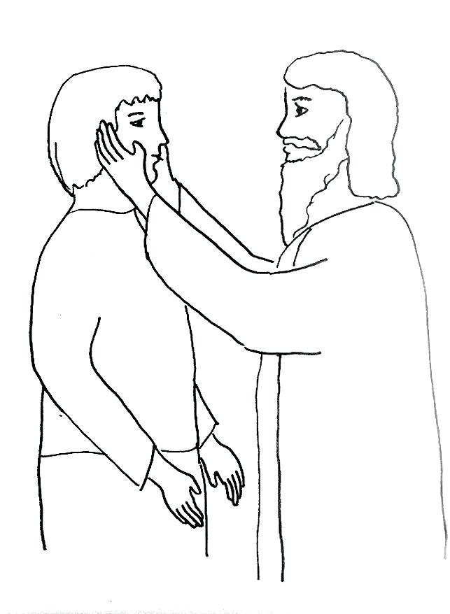 643x878 Jesus Heals The Blind Man Coloring Page Heals A Deaf Man Coloring