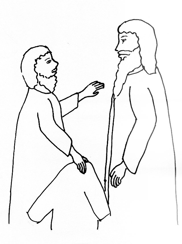 640x855 Bible Story Coloring Page For Jesus And Blind Bartimaeus Free