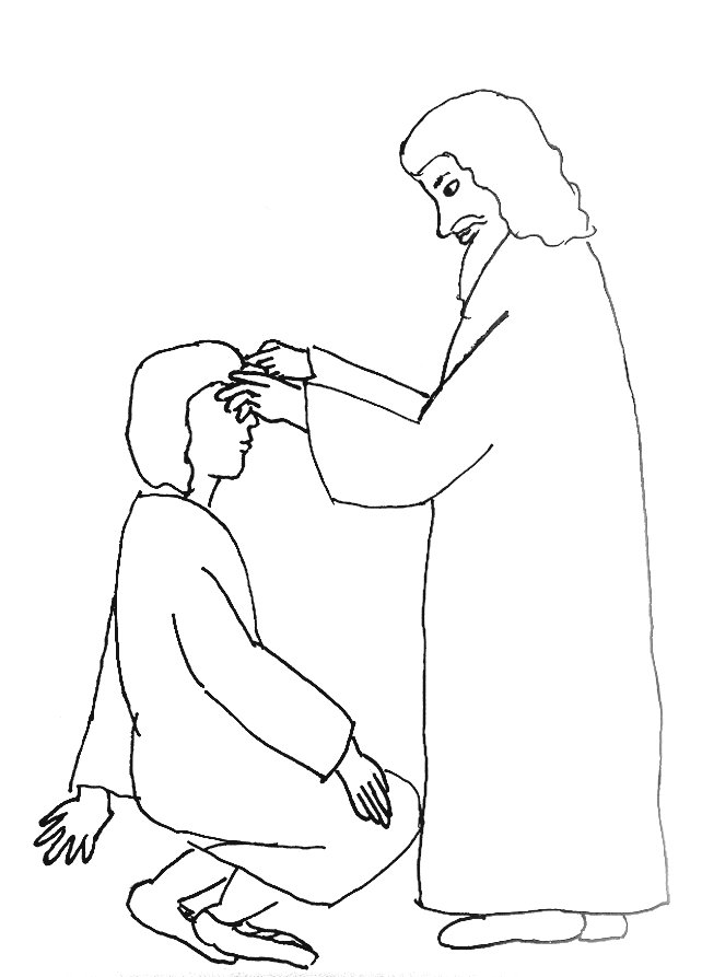 642x893 Bible Story Coloring Page For Jesus And The Man Born Blind Free