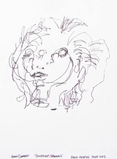 375x510 Saatchi Art Blindfold Drawings