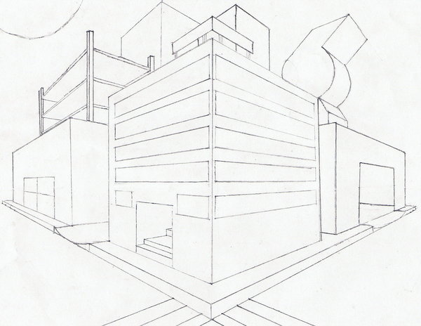 600x464 2 Point Perspective City Block By Sophomoreatscripps