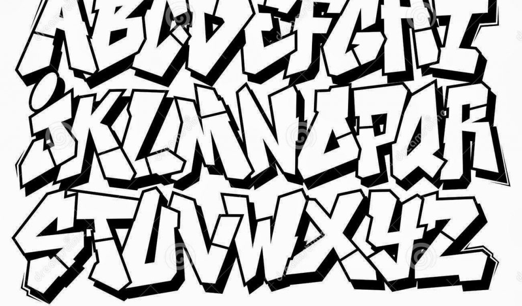 1024x600 Block Letter Graffiti Graffiti Block Letters How To Draw Block