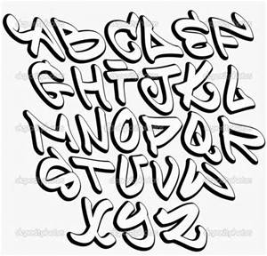 300x288 Block Grafitti Fonts Alphabet Letters A Z