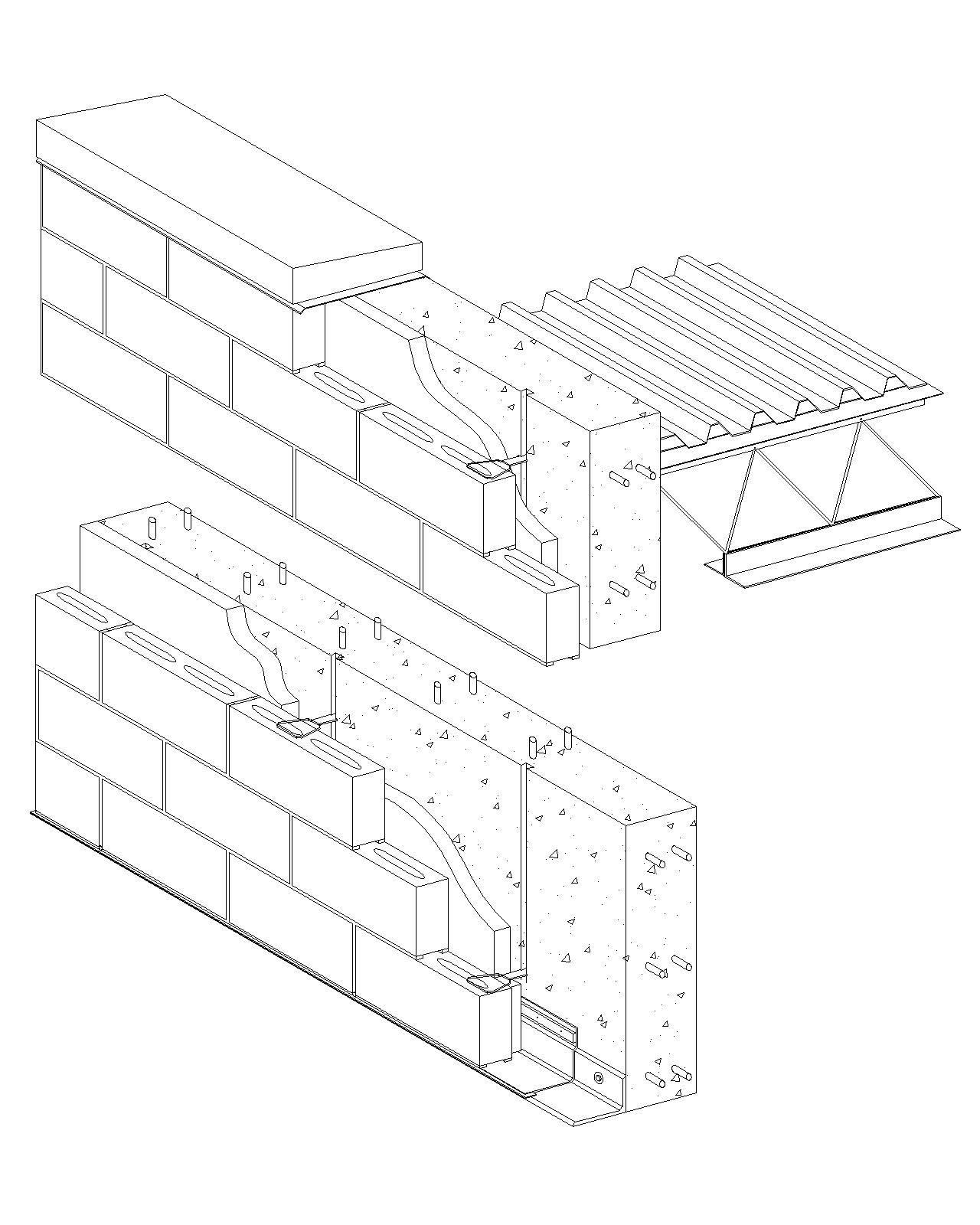 1280x1600 Cavity Wall Concrete Block Veneerreinforced Cast In Place Concrete