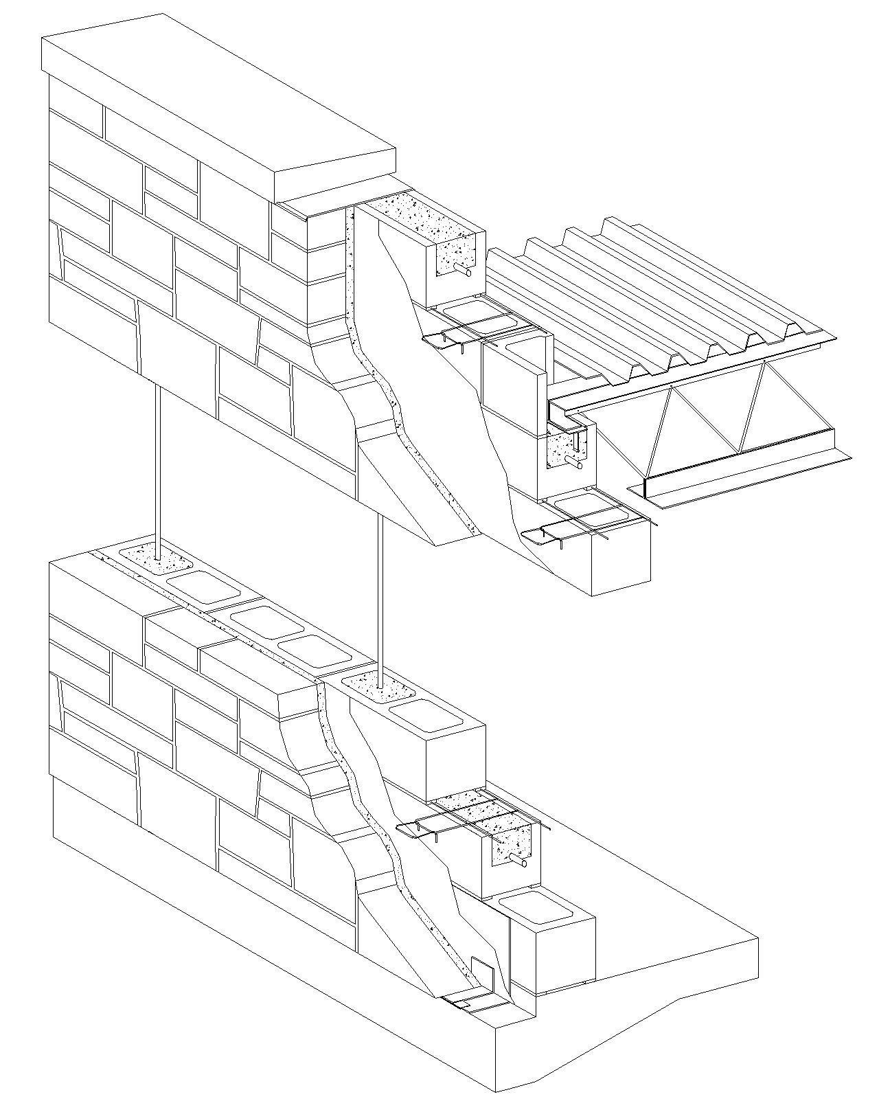 1280x1600 Block Wall Design Details