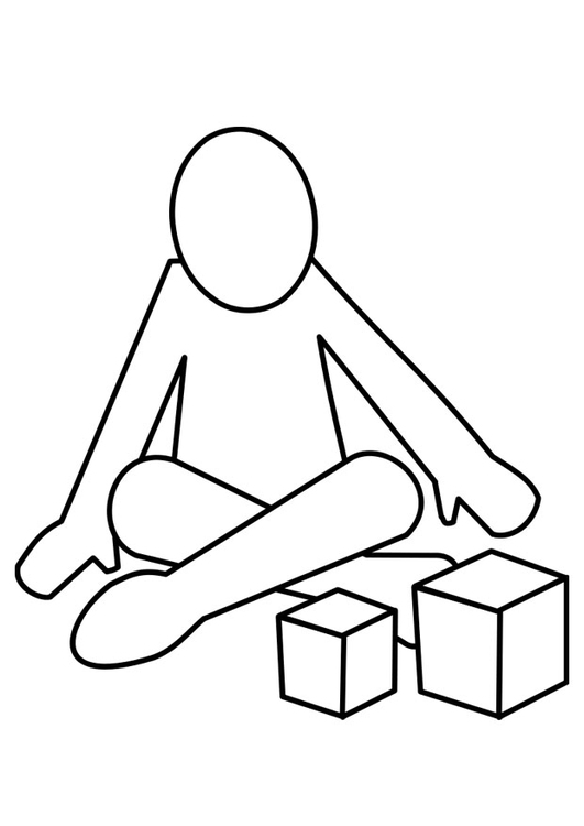 531x750 Coloring Page To Play With Blocks