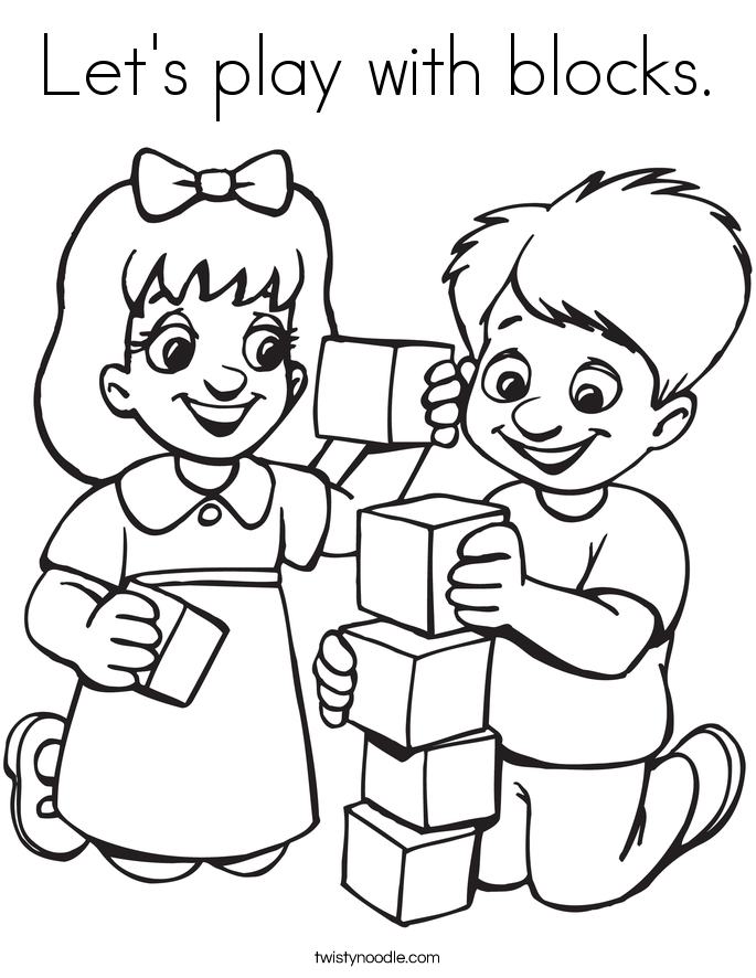 685x886 Let's Play With Blocks Coloring Page