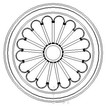 360x360 Rosette Roman Corinthian Style Block In Decorative Elements