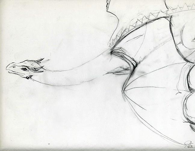 648x500 Taming The Dragon Drawing Process Saxton Studio Blog