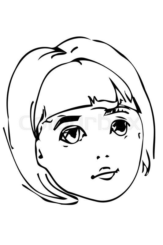 Blonde Girl Drawing At Getdrawings Com