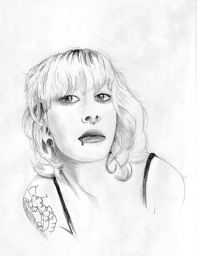 386x500 Halfanese Sketch Of Blonde Girl