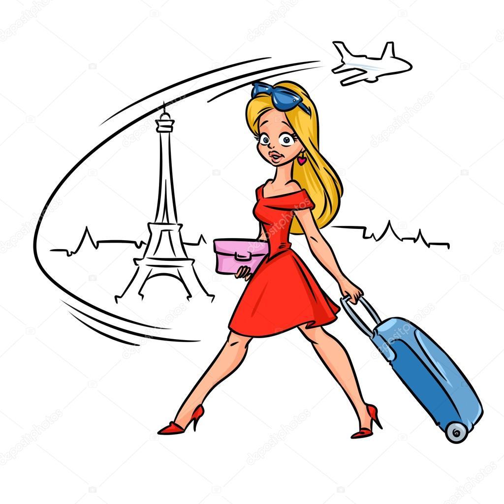 1024x1024 Beautiful Blonde Girl Travel Paris France Stock Photo Efengai