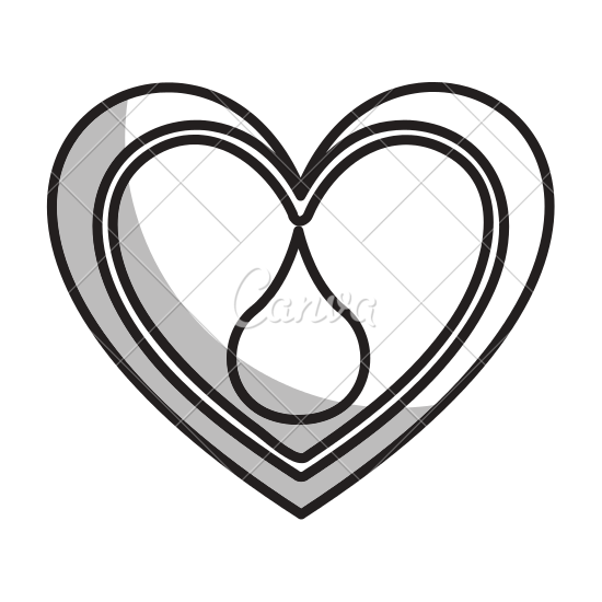 550x550 Heart With Blood Drop Icon