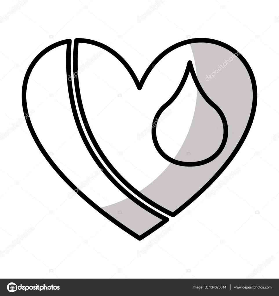 963x1024 Heart With Blood Drop Icon Stock Vector Yupiramos