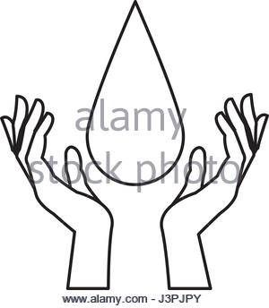 300x344 Hands With Blood Drop Donation Campaign Stock Vector Art