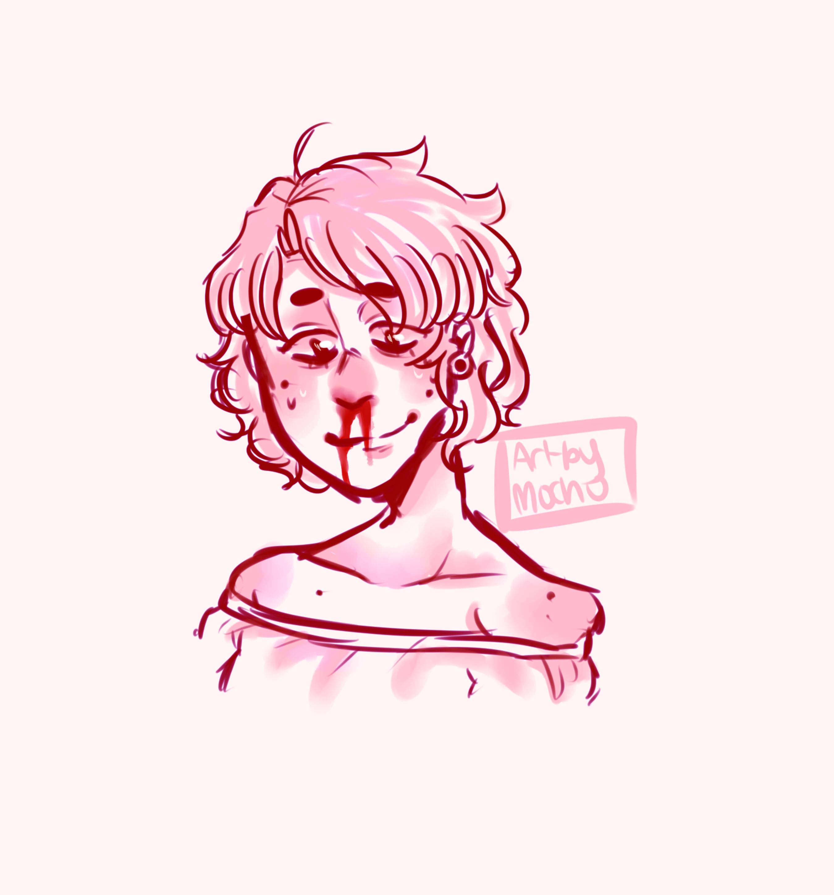 2700x2900 Someone On Tumblr Asked Me To Draw Yeon W A Bloody Nose So Yee