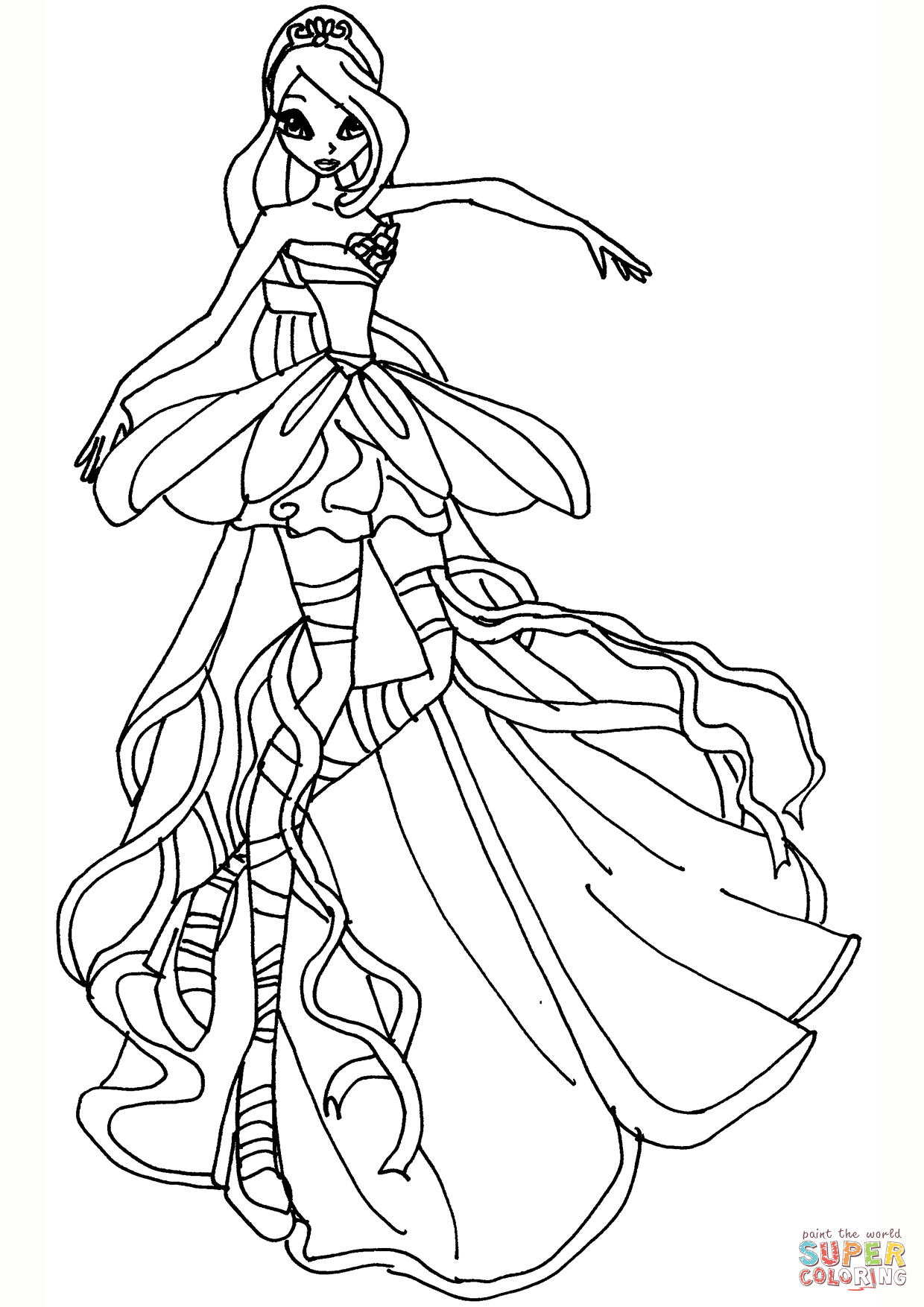 1240x1754 Bloom Harmonix Coloring Page Free Printable Pages