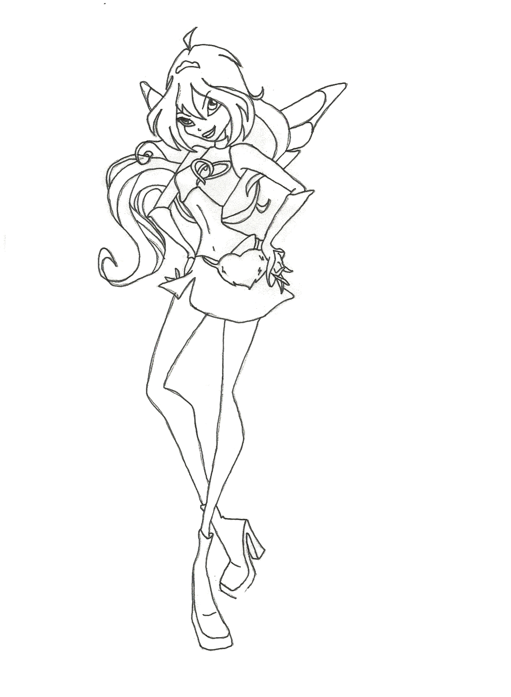 1024x1397 Winx Club Charmix Bloom Coloring Page By Winxmagic237 On DeviantArt