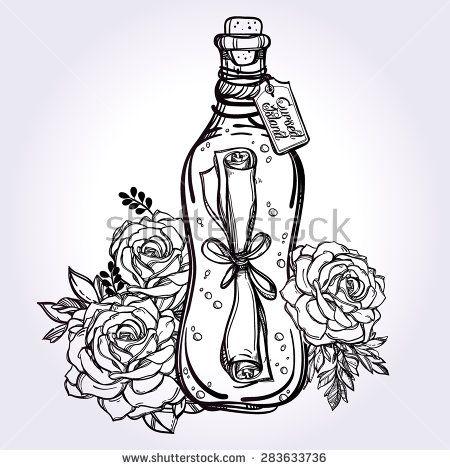 450x470 Message In A Bottle (Secret Letter Wrapped In A Sealed Bottle