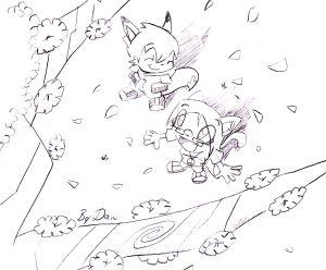 300x248 Cherry Blossom Tree Drawing Cherry Cherries