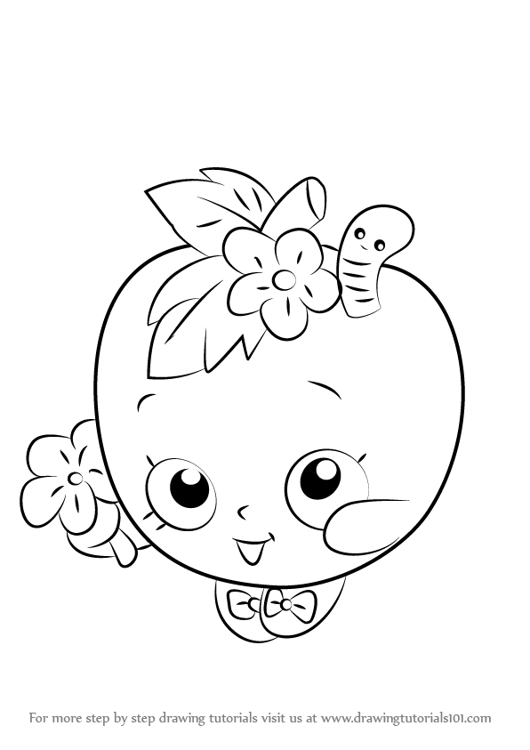 596x843 Learn How To Draw Apple Blossom From Shopkins (Shopkins) Step By