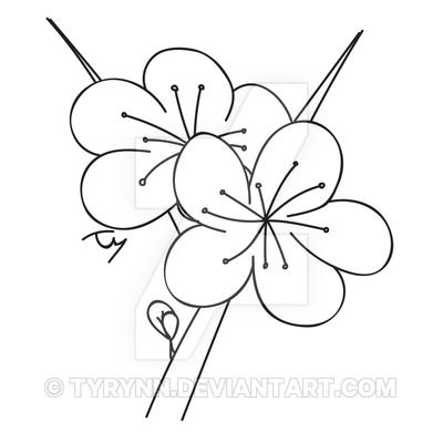 400x400 Cherry Blossom Quick Draw