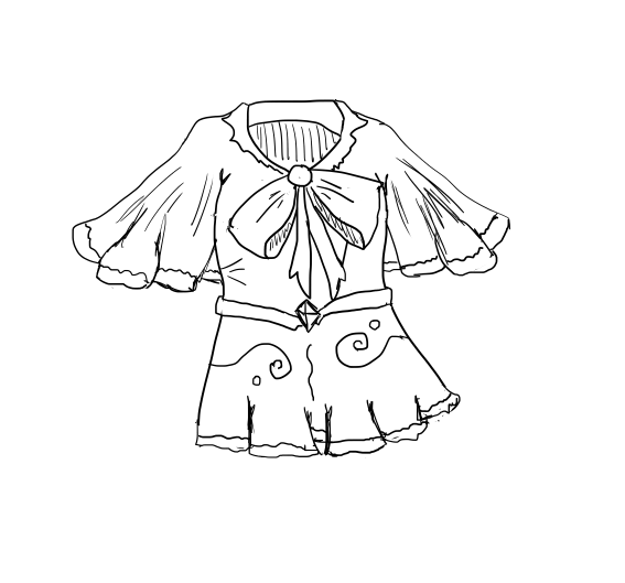 567x529 How To Draw A Blouse 10 Steps (With Pictures)