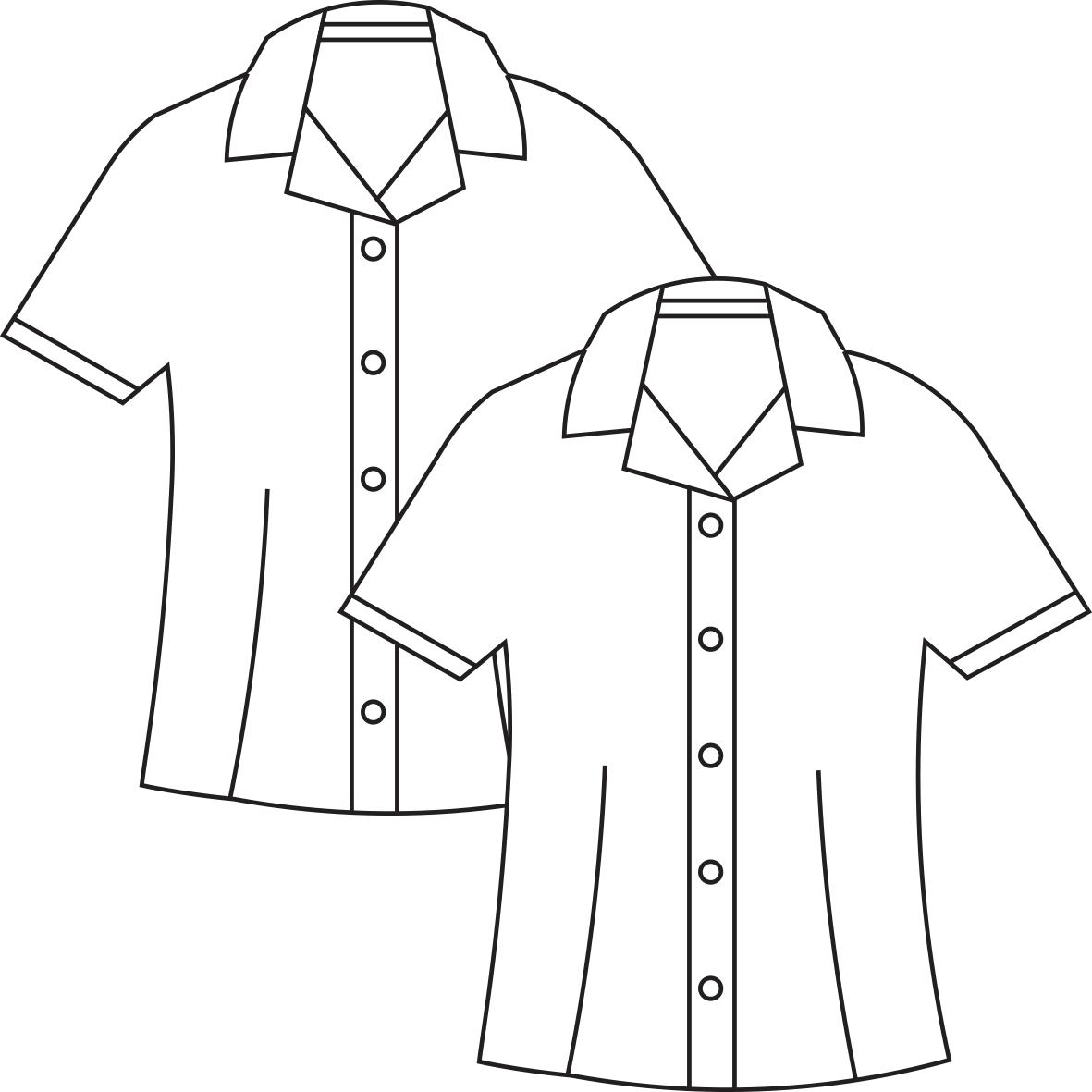1181x1181 Short Sleeve Revere Collar Blouse (2 Pack)