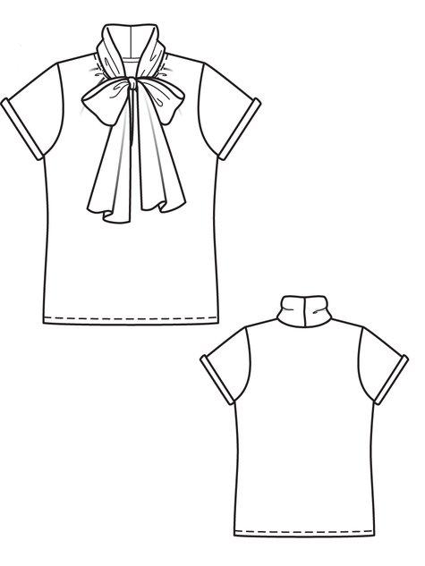 Shawl Collar Blouse