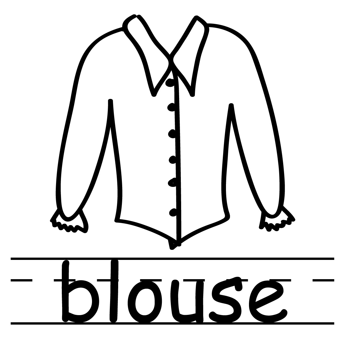 1200x1200 Blouse Coloring Pages
