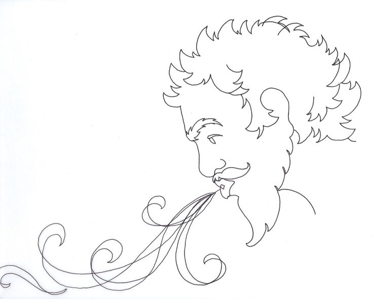 Blowing Hair Drawing