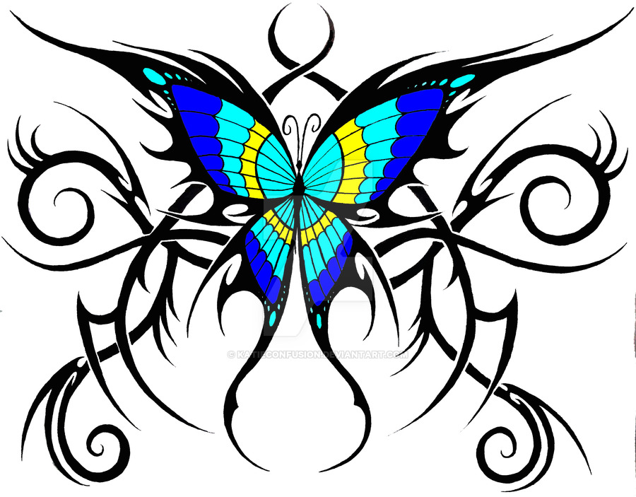 900x703 Tribal Butterfly By Katieconfusion