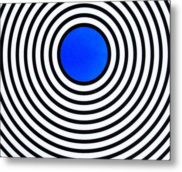 600x567 Dark Blue Circle Painting By Scott Shaver