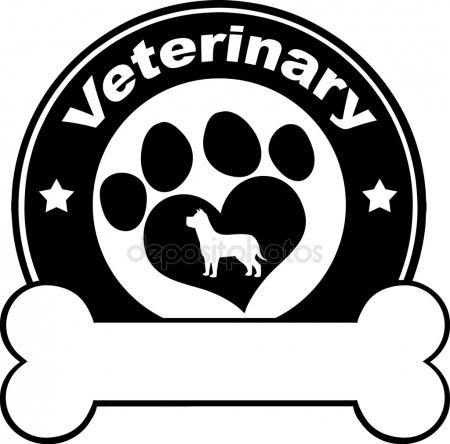 450x444 Veterinary Blue Circle Label Stock Vector Hittoon