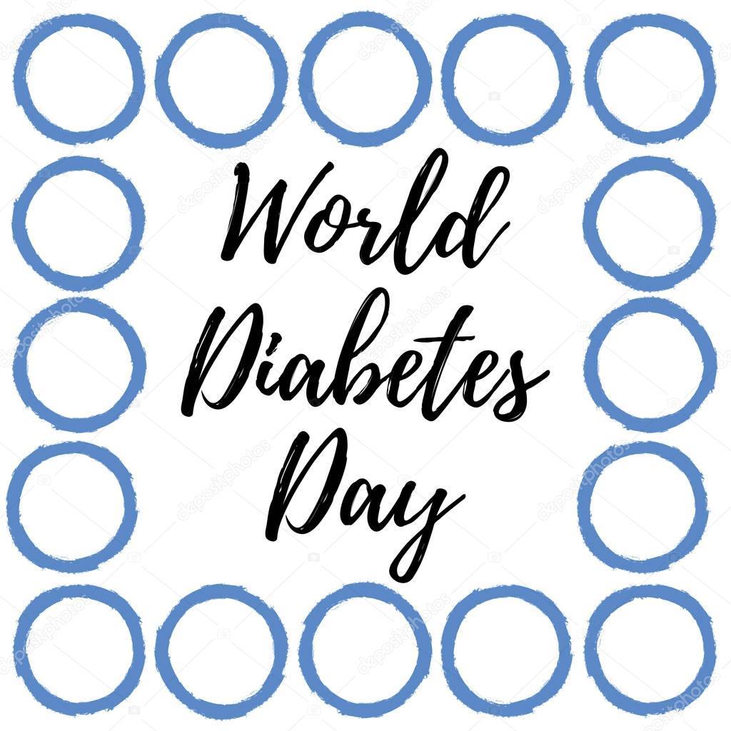 1024x1024 World Diabetes Day. Blue Circle. Medical Illustration. Health Care