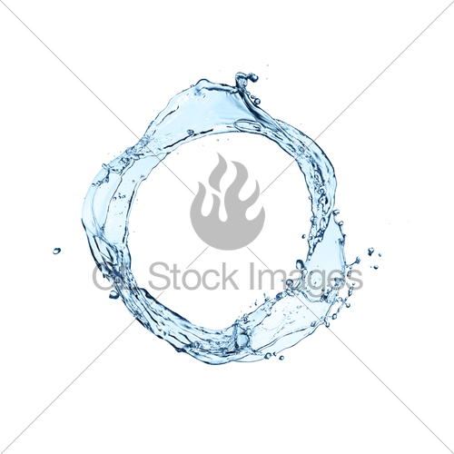 500x500 Blue Water Splash Circle Isolated On White Background Gl Stock