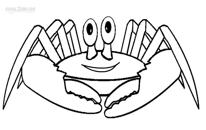 850x537 Printable Crab Coloring Pages For Kids Cool2bkids