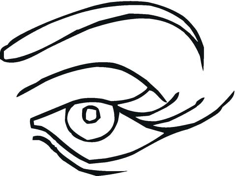 480x359 Eyeball Coloring Pages Click To See Printable Version Of Blue Eye