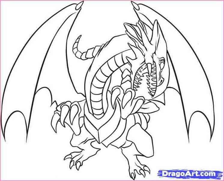 746x602 Blue Eyes White Dragon Drawing