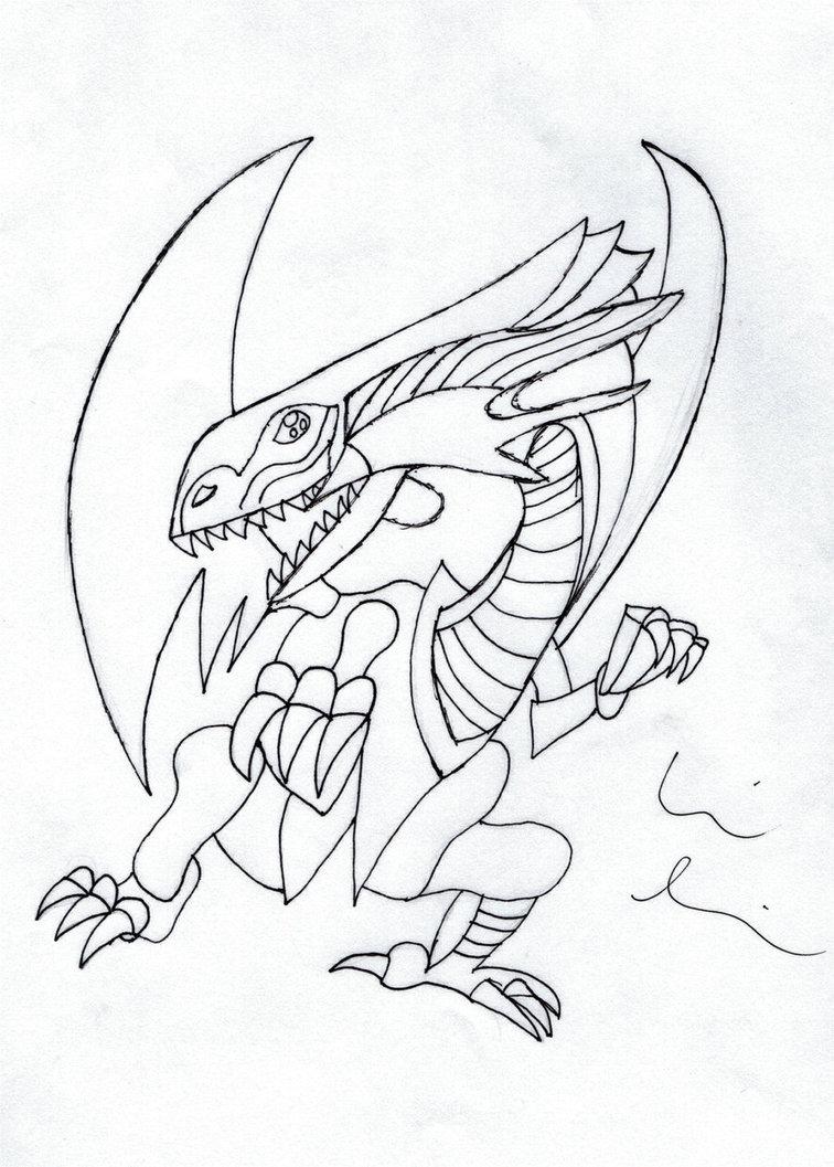 756x1057 Blue Eyes White Dragon By Babbitrules