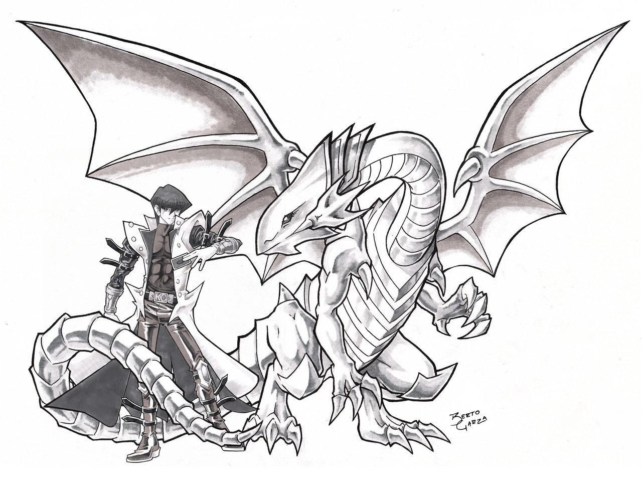 1280x967 Kaiba And Blue Eyes White Dragon By Riomak