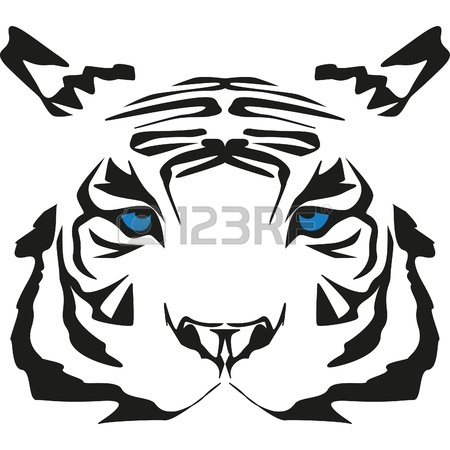 450x450 Very Rare White Tiger With Blue Eyes Royalty Free Cliparts