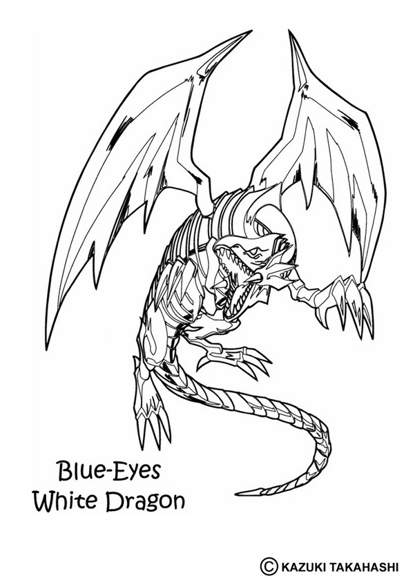 601x850 White Dragon 3 Coloring Pages