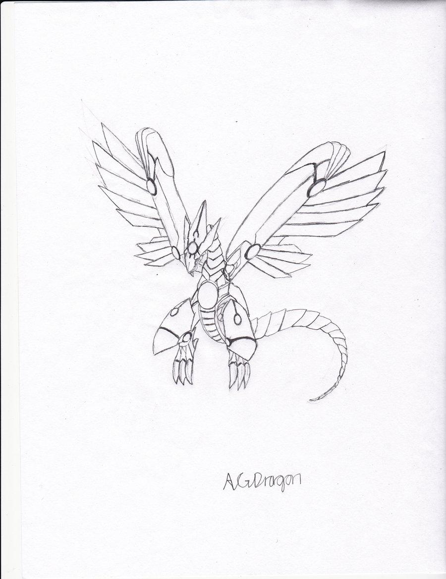 900x1169 Blue Eyes Shining Dragon Line Art By Dragonfang01